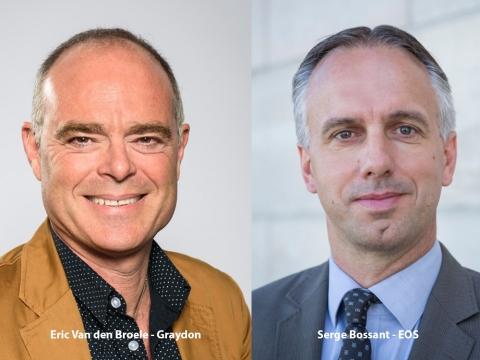 Eric Van den Broele, Graydon Belgium en Serge Bossant, EOS Aremas Belgium